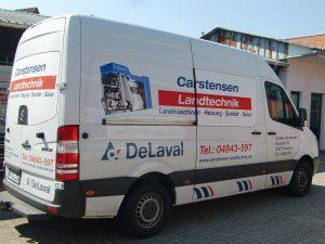 Unser DeLaval Servicewagen